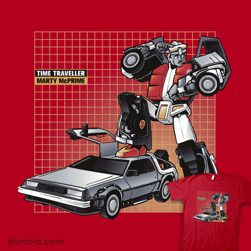 shirtoid:  Marty McPrime available at RedBubble
