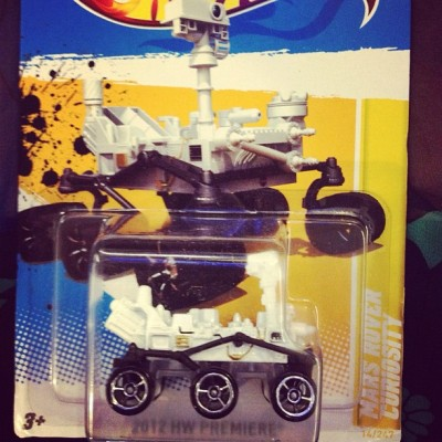 Look what Hot Wheels sent us! #marsrover (Taken with Instagram)