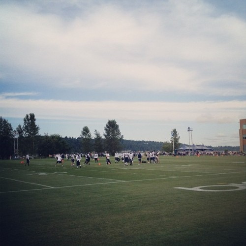 benfriedlander:  #seahawks training camp #nfl #vmac #seattle (Taken with Instagram at Virginia Mason Athletic Center)