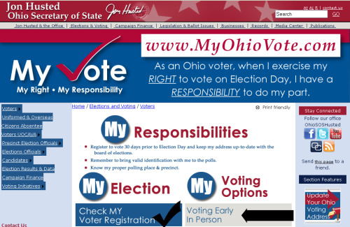Ohio voters, do you need to update your address on your voter registration? MyOhioVote.com makes it a little easier. Visit Dispatch.com to learn more about Secretary of State Jon Husted's efforts to have fewer provisional ballots and more regular ballots cast this year.