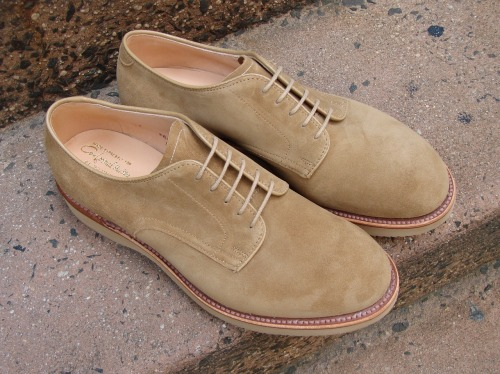 New Case Arrival Alden #53524 Sand Suede Lightweight Rubber Soles Modified Last www.mouldedshoe.com