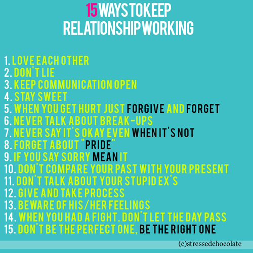 15 ways to keep relationship working | CourtesyFOLLOW BEST LOVE QUOTES ON TUMBLR  FOR MORE LOVE QUOTES
