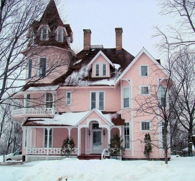 I guess it's okay to paint houses pink. Can't wait to own a home!