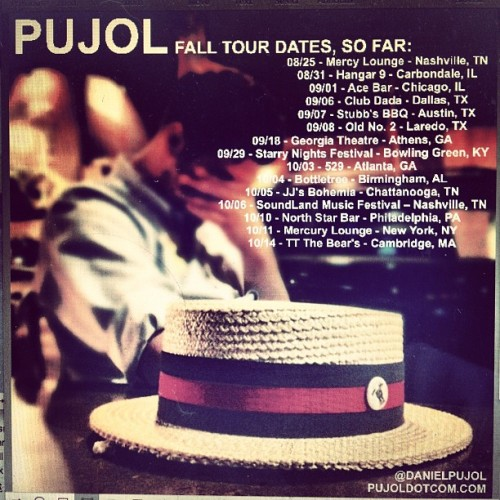 Fall tour dates, gaps to be filled  (Taken with Instagram)
