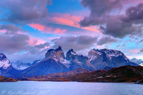 neptunesbounty:  Colorful Sky over Spectacular Peaks DSC01035 by Ken Hornbrook on Flickr.