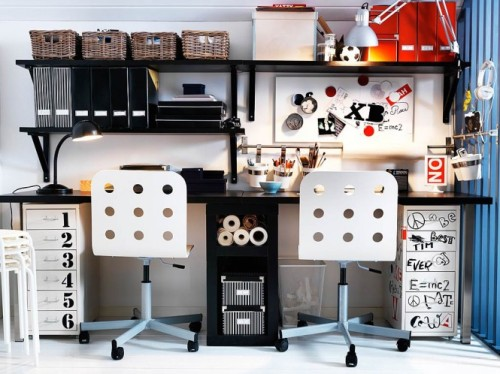sdared teen workspace (via home-designing)