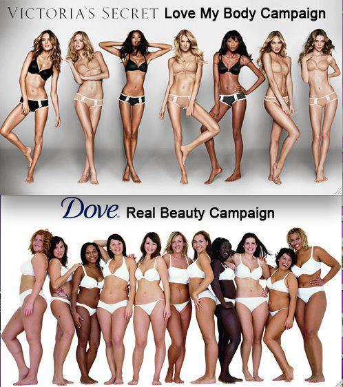Ew…the VS girls look skeletal, like they're going to snap…the Dove girls are so so so much more attractive!