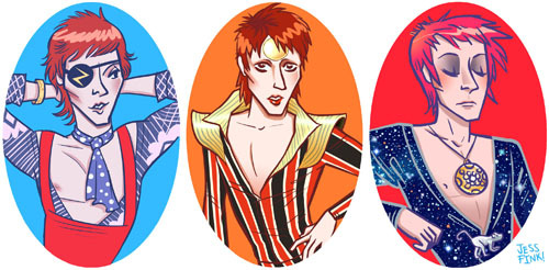 B-B-B-BOWIE This is a series I started a while ago, there will probably be more to come.Also, it's now available as a print from Society 6! http://society6.com/JessFink