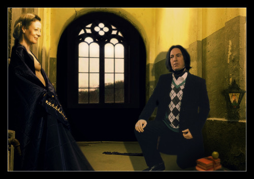 nightly visits at Hogwarts Snape/Minerva