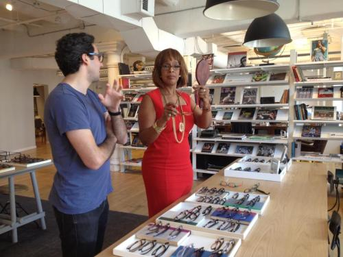 Hooking up Gayle King with some Warby Parker.