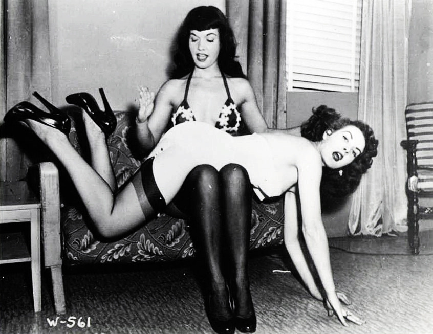 vintagegal:  Bettie Page and a friend c. 1950's