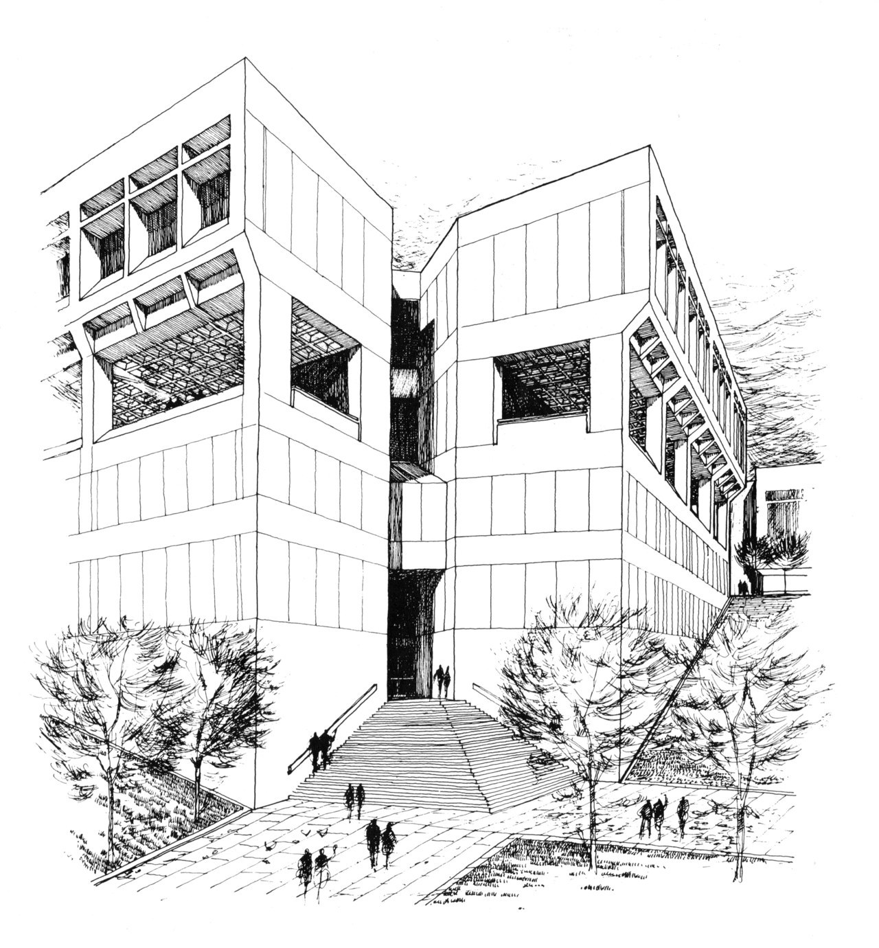 fuckyeahbrutalism:  Student Union, University of Arkansas, Fayetteville, Arkansas, 1970 (Project) (Wittenberg Delony and Davidson)