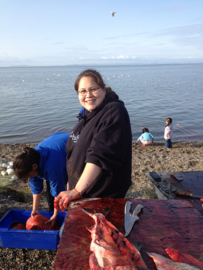 My wife is a fisherwoman. August 8, 2012 in kotzebue.
