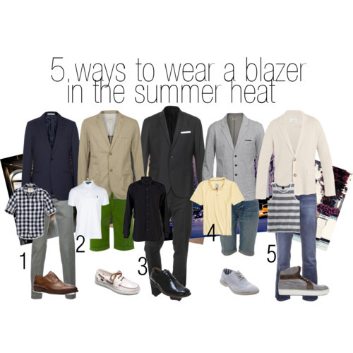 Fashion and Style tip - 5 ways to wear a blazer in the heat. http://raannt.com/5-ways-to-wear-a-blazer-in-the-summer-heat/
