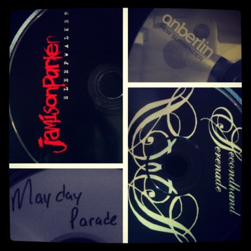 #picstitch #playlist #cd #best #emo #bands #jamisonparker #maydayparade #anberlin #secondhandserenade #safetysuit #jamming #music #great #goodtimes #happy #love  (Taken with Instagram)