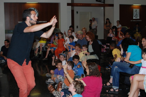 "Family Program News: Jacob Stein and The Bakery Band Puppets Present ""The Wise Puppets of Chelm"" This Sunday, August 12, marks the season finale of Summer Sundays at the Center, a new family program launched in June. Making their second Summer Sunday appearance, Jacob Stein and The Bakery Band Puppets will present ""The Wise Puppets of Chelm,"" a musical performance that will take families on a journey through traditional and contemporary Jewish folktales. Singing songs old and new, Jacob's hilarious cast of characters will delight the crowd with their stories about the people—and animals—of Chelm, Poland. As part of Sunday's program, families are invited to take part in a puppet-making workshop before the show and make their own farm animal puppets to dance along to the wise puppets' music."