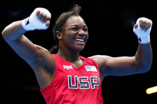 Claressa Shields wins the first US women's boxing gold in London! The second youngest boxer in Olympic history to capture the gold!