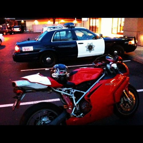 I dip all day… #ducati #sjpd #dontstopwontstop (Taken with Instagram at Eastside San Jose)