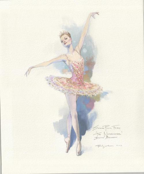 forthedancers:  Sugar Plum Fairy Sketch by Robert Perdziola For Boston Ballet's Nutcracker with Mikko Nissinen's re-imagined sets and costumes.
