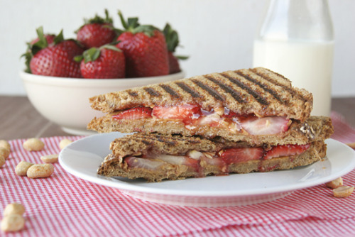 prettygirlfood:  Grown Up PB&J Sandwich (Recipe Here!)