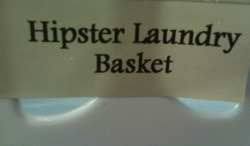 I'm not a hipster, but my laundry basket is..