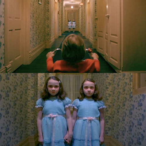 sheranoffwithacoalminer:  The Shining (1980), Danny sees the Twins in Hallway Scene