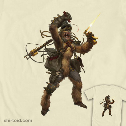 shirtoid:  Steampunk Chewie available at WeLoveFine Shop