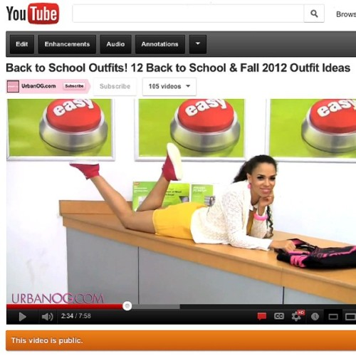 Guess what just posted! This video was SO. MUCH. FUN. #backtoschool #urbanog #fashion #staples #fallfashion #spankievalentine  (Taken with Instagram)