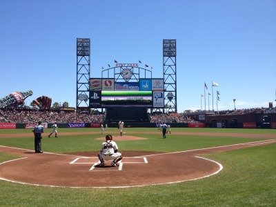 sfgiants:  The most beautiful setting in baseball….  I admit, I've only been to maybe 3 baseball stadiums in my entire life, but I can comfortably say that it truly is the most beautiful view.