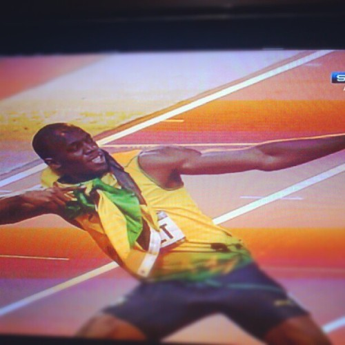 The best!!! Fucking good!!! #bolt #olympics #games #champion #best (Publicado com o Instagram)