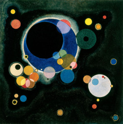 "paperimages:  Wassily Kandinsky (Russian: 1866–1944), Sketch for ""Several Circles,"" 1926. New Orleans Museum of Art"