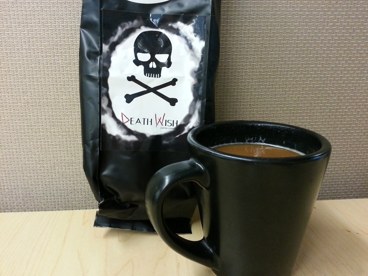 My review of Death Wish Coffee, the world's strongest coffee, with 200% more caffeine than anything else you've ever consumed It was alright, I guess.