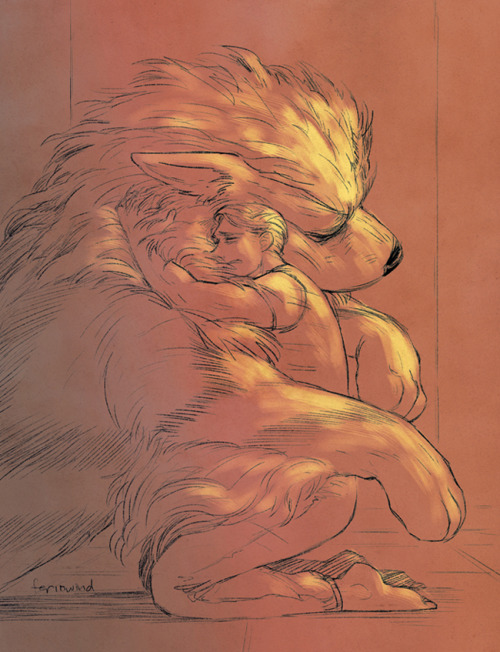 Steve's reunion with Growlithe, now an Arcanine. Drawn during the Livestream! ———When Steve was first found under the ice, Arcanine was one of the first notified, having worked for SHIELD for several decades already. He was ecstatic over the news, and scared as well because it was just too good to be true. How could Steve possibly still be alive and well after being in the ice for 70 years? But Arcanine kept hope nevertheless, and guarded Steve's room with a renewed vigor that he had lost after Steve's 'death'.The day Steve woke, Arcanine was told to stay hidden because they didn't want Steve going into shock over being in the future. Frustrated but unwilling to to put Steve in distress, Arcanine reluctantly agreed and waited. The wait was cut short though when Steve came bursting out of his room and ran straight towards the fiery dog Pokemon.Arcanine, seeing that whatever they had attempted had clearly gone wrong, stepped towards Steve to stop him, ready to comfort and welcome his long lost friend. But Steve, only remembering Growlithe, yelled at him to get out of his way and barreled past him. Arcanine stopped and could only stare at Steve's disappearing back in shock at the dismissal. Steve eventually came back, having been retrieved by Fury and told what exactly happened, and that the giant dog he had ran past was actually his old Growlithe. Steve apologized profusely to Arcanine, his heart slowly breaking over the knowledge that he had missed so much of his beloved friend's life. Arcanine could not have cared less though and simply sank into Steve's hug, content in the fact that they were together again.