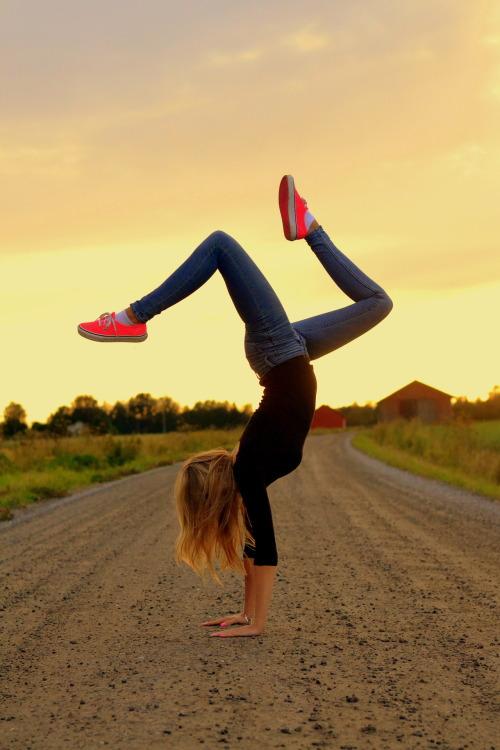 vans girl blonde pink road gymnastics handstand countryside longhair pink shoes gymnast pink vans