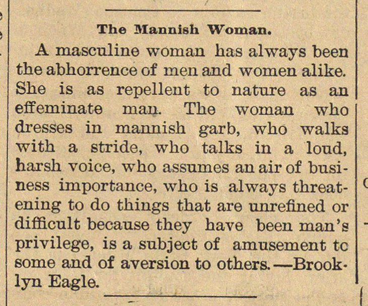The Mannish Woman (1897)
