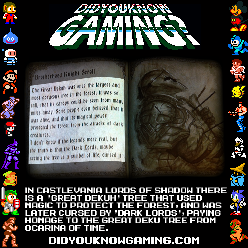 didyouknowgaming:  Castlevania: Lords of Shadow.  Submitted by BumblebeeCody.
