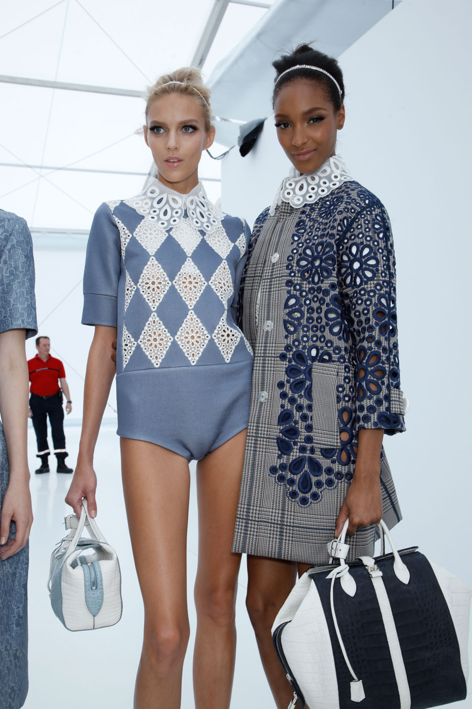 deauthier:  Anja Rubik and Jourdan Dunn backstage @ Louis Vuitton, s/s 2012.