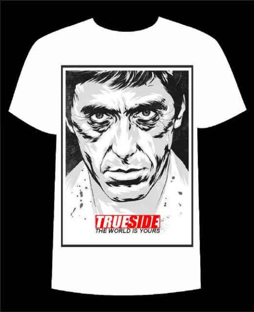 "Coming soon!!! Trueside ""Scarface"" t-shirt"