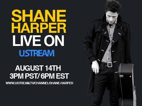 shane is having a ustream next week! i wont be able to watch because ill be out of town at a concert so you're all going to have to update me when i get back:)