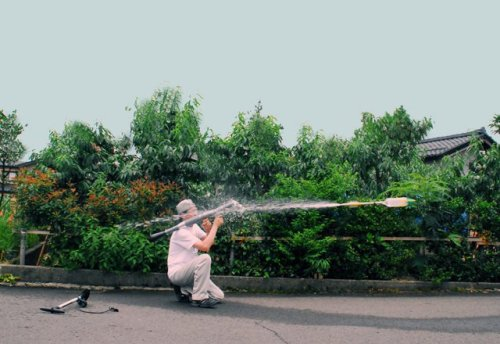surplus-mag:  RPG 7 Water Rocket Because a simple Super Soaker won't get the job done when the rival neighborhood attacks like it's a battle scene out of Black Hawk Down. Luckily the RPG 7 just shoots water filled bottles and not something that can put a whole through a military grade helicopter.
