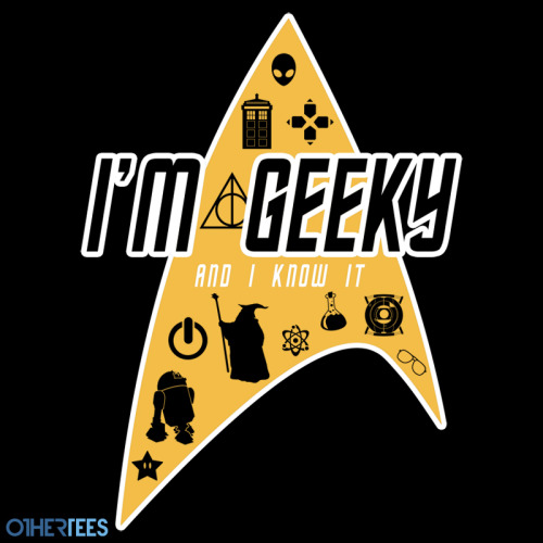 "othertees:                   ""Geeky"" by thehookshot. T-shirt on sale 9-11 August on OtherTees for 7.5£/9€/12$."