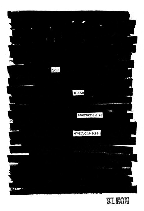 """Everyone else"" a blackout by Austin Kleon"