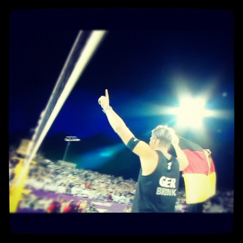 gold for germany! #beachvolleyball #london2012 (Taken with Instagram)