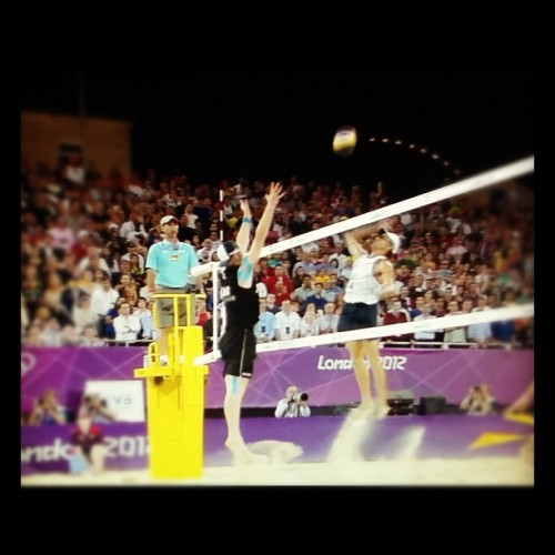 germany beats brasil. can't believe it. #beachvolleyball #london2012 (Taken with Instagram)