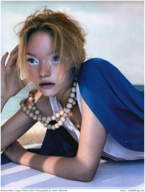 seacow:  'maiden voyage': gemma ward by javier vallhonrat, vogue uk march 2005