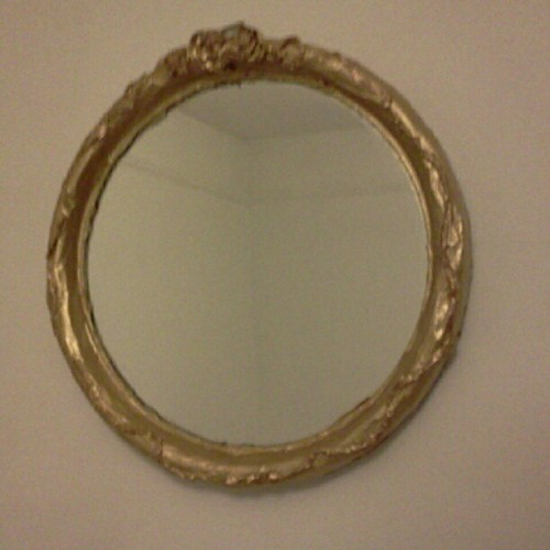 My completed rococo-style papier mache mirror frame! (Taken with Instagram)