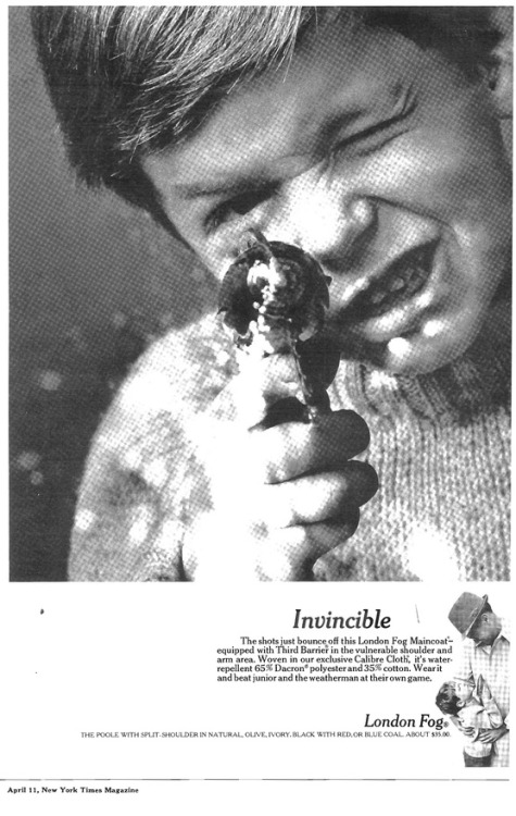 Invincible. London Fog New York Times ad.