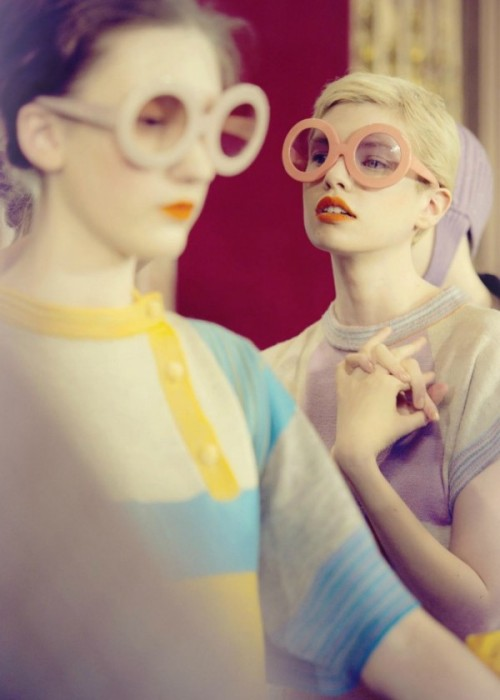 Backstage at Tsumori Chisato FW11 by Peut-etre Magazine