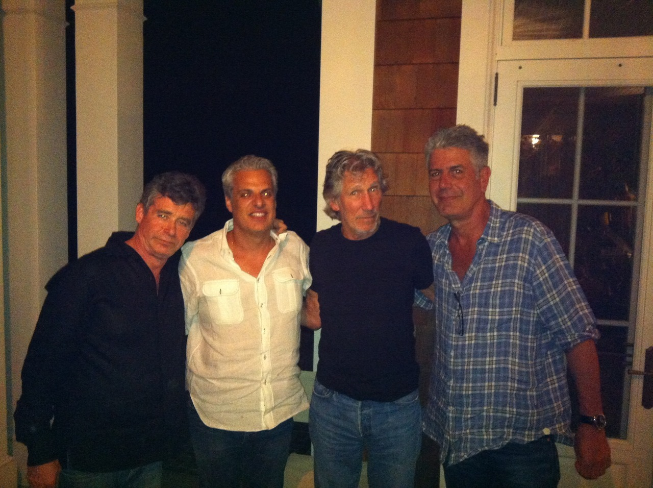anthonybourdain:  Jay McInerney, Eric Ripert, Roger Waters and me