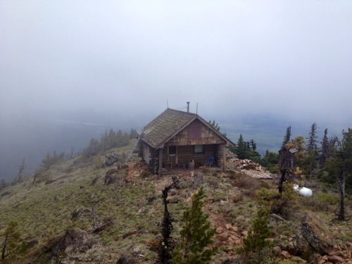 cabinporn:  Cabin atop Black Butte Lookout in Deschutes National Forest, Oregon.   From Devin:  My boyfriend, Bryan, and I both left our jobs in SF and are on an endless road trip before we hike the John Muir trail in September. More photos on our blog, including on above, are ours.  Love the inspiration your site has brought us and thousands of others!